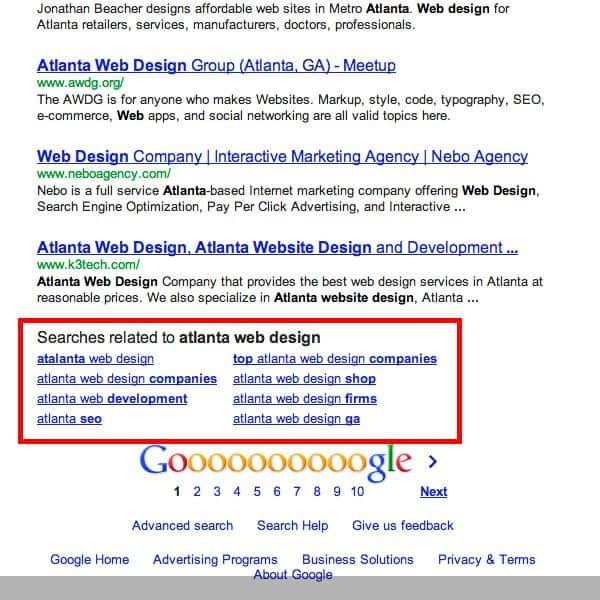 Google Related Search Long Tail Keywords