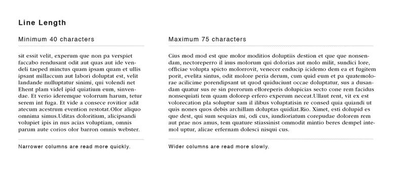 How does readability affect SEO Line Length