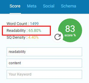 How does readability affect SEO Readability Scores