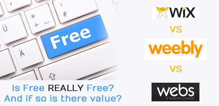 Free website wix vs weebly vs webs