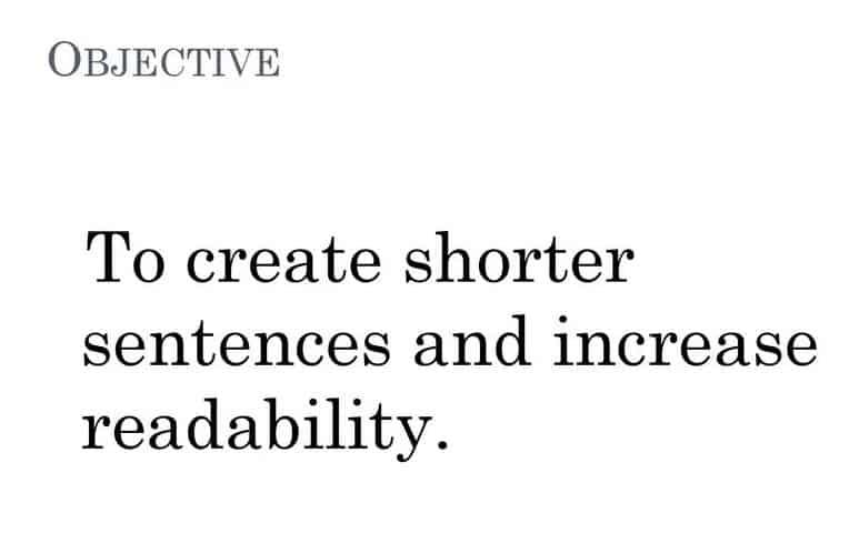 How does readability affect SEO Shorter Sentences