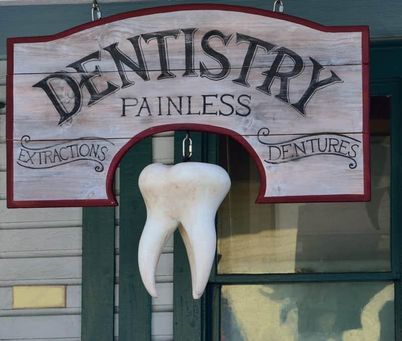 Outside dental clinic advertising