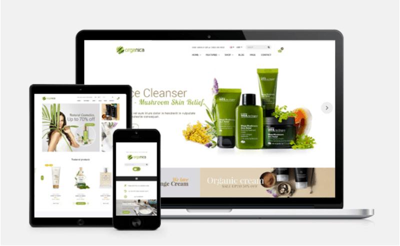 Organica Shopify theme