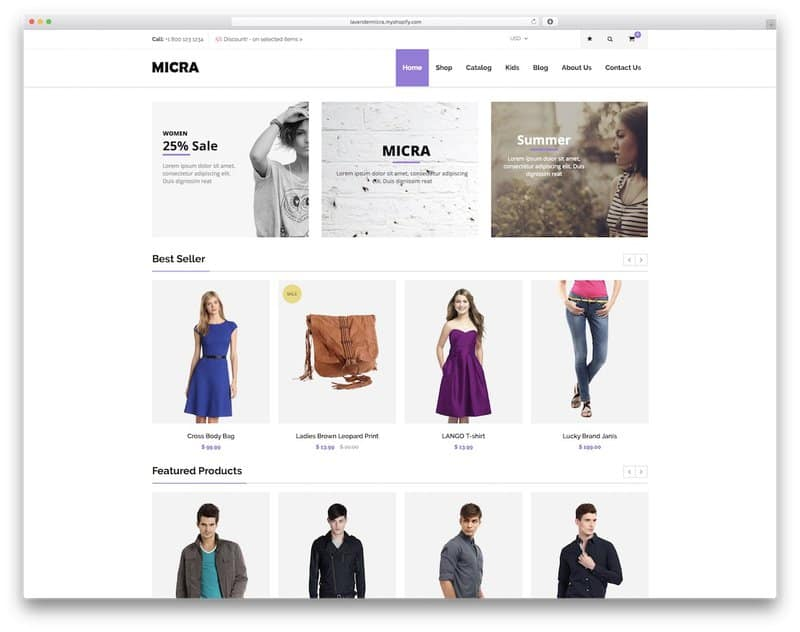 Micra shopify theme