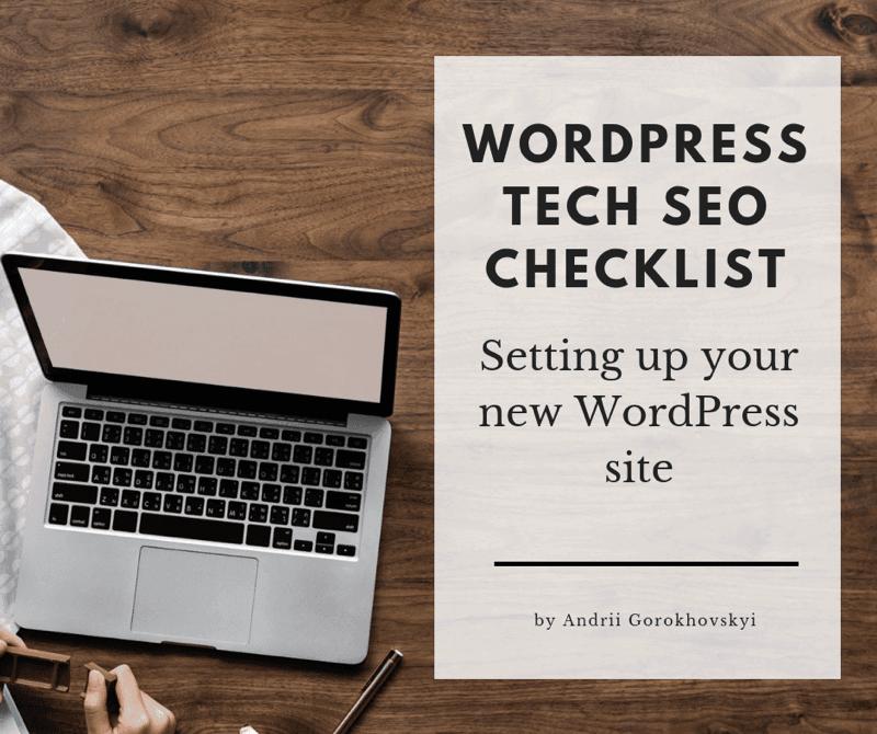 11 Step Wordpress Technical SEO Checklist 2019 | RankToday