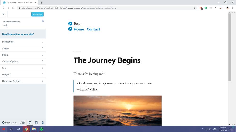 Wordpress basic Themes